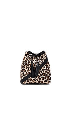 Shaffer The Greta Bucket Bag in Leopard