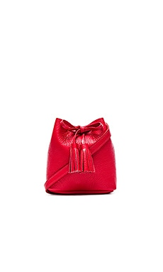 Shaffer The Greta Bucket Bag in Pebble Red