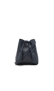 Greta Bucket Bag in Pebbled Navy