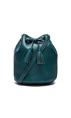 Shaffer The Greta Medium Bucket Bag in Petrol Blue