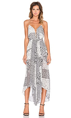 Shona Joy Tribus Waterfall Midi Dress in Multi