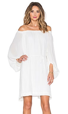 Shona Joy Cumulus Off Shoulder Dress in Ivory