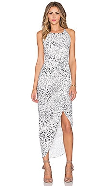 Shona Joy Remus High Neck Maxi Dress in White & Multi