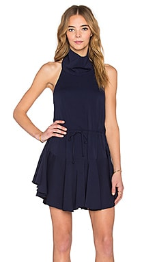 Shona Joy San Matias Drawstring Dress in Dark Navy
