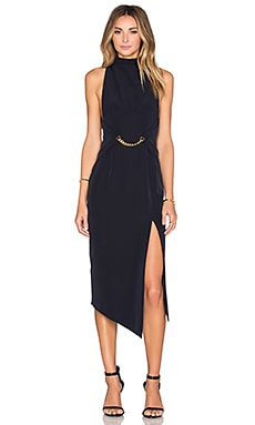 Shona Joy Admiral High Neck Dress in Navy