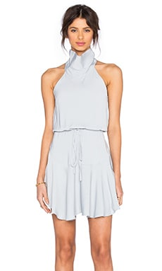 Shona Joy Stellar High Neck Mini Dress in Powder Blue