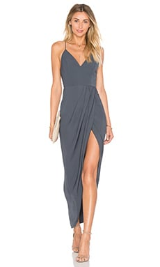 Stellar Drape Dress in Charcoal