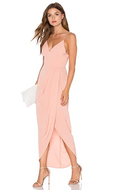Cocktail Draped Dress in Dusty Pink