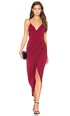 Core Cocktail Wrap Dress in Burgundy