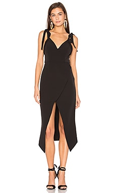 Villefort Ties Cocktail Dress in Black