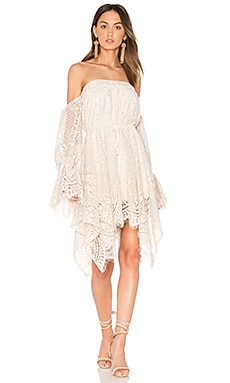 Handkerchief Mini Dress in Nude