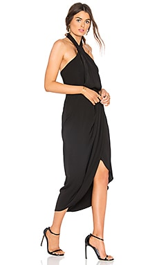 Knot Draped Dress in Black