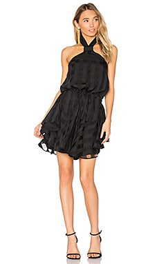 Perseus Knot Mini Dress in Black