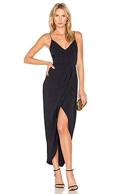 Cocktail Draped Dress in Navy