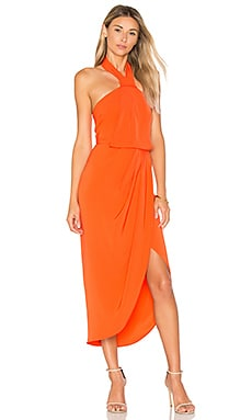 Knot Draped Dress in Coral
