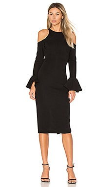 Lori Midi Dress in Black