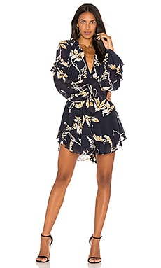 Curacao Tie Sleeve Mini Dress
