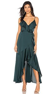 Luxe Bias Frill Wrap Dress Shona Joy $295