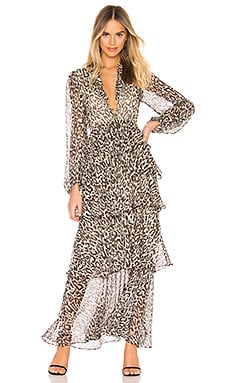 Mariposa Tiered Maxi Dress Shona Joy $420