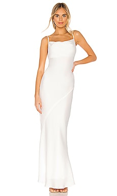 Luxe Bias Cowl Slip Dress Shona Joy $280 Wedding