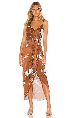 1fff10c5b1a St Lucia Tie Front Draped Midi Dress Shona Joy  295 NEW ARRIVAL ...