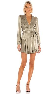 Joan Wrap Mini Dress Shona Joy $295