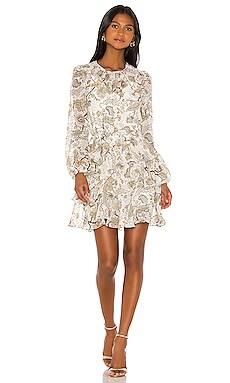 Quinn Ruffle Shift Mini Dress Shona Joy $280