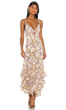 Tie Front Godet Midi Dress Shona Joy $207