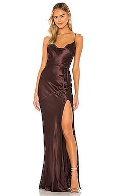 La Lune Bias Cowl Dress Shona Joy $208