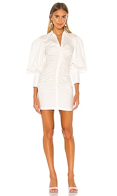 Grant Balloon Sleeve Ruched Dress Shona Joy $163