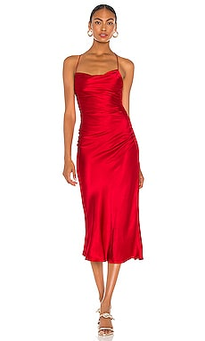 Wright Ruched Backless Slip Dress Shona Joy $365