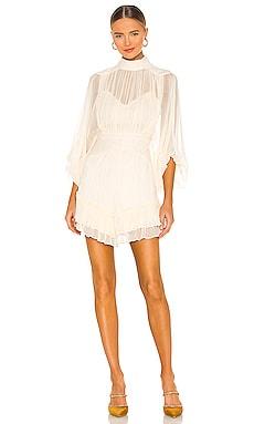 Victoria Long Sleeve Ruched Mini Dress Shona Joy $360 BEST SELLER