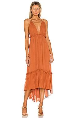 Victoria Plunged Backless Midi Dress Shona Joy $340