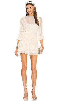 Balloon Sleeve Corded Mini Dress Shona Joy $340 Sustainable