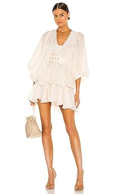 Charlotte Plunged Draped Mini Dress Shona Joy $360 NEW