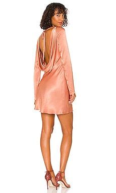 Eloise Long Sleeve Backless Mini Dress Shona Joy $280 NEW