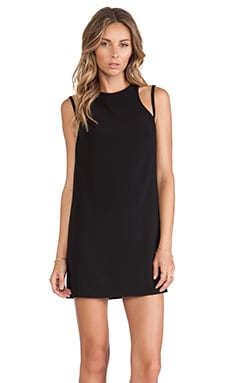 Shona Joy Bauhaus Racer Mini Shift Dress in Black