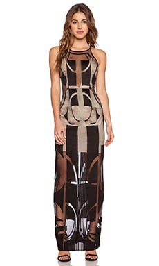 Shona Joy Seidler Maxi Dress in Black