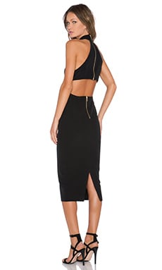 Shona Joy The Pass High Neck Midi Dress in Black