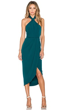 Shona Joy The Pass Knot Draped Dress in Peacock