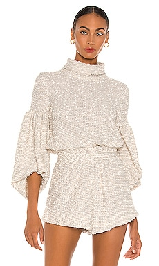 Aimee Cowl Neck Balloon Sleeve Jumper Shona Joy $220 NEW