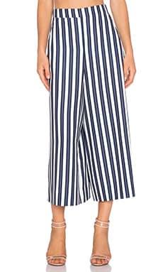 Shona Joy La Raya Long Line Culottes in Navy & White