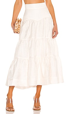 Tiered Midi Skirt Shona Joy $182