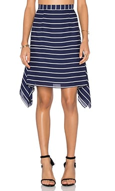 Shona Joy Isabelle Handkerchief Mini Skirt in Navy & White Stripe