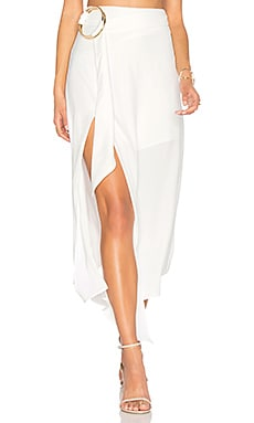 Voltaire Rings Asymmetrical Skirt in Ivory