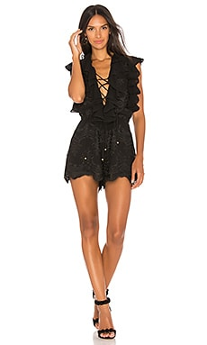 Antigua Lace Up Romper