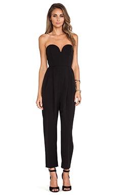 Shona Joy The Awakening Bustier Jumpsuit in Black