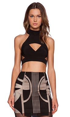 Shona Joy The Modernists Crop Top in Black