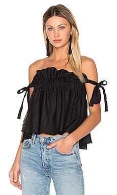 Moliere Ruched Top in Black