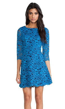 Celestial Lace Miranda Dress en Celestial Blue/Midnight